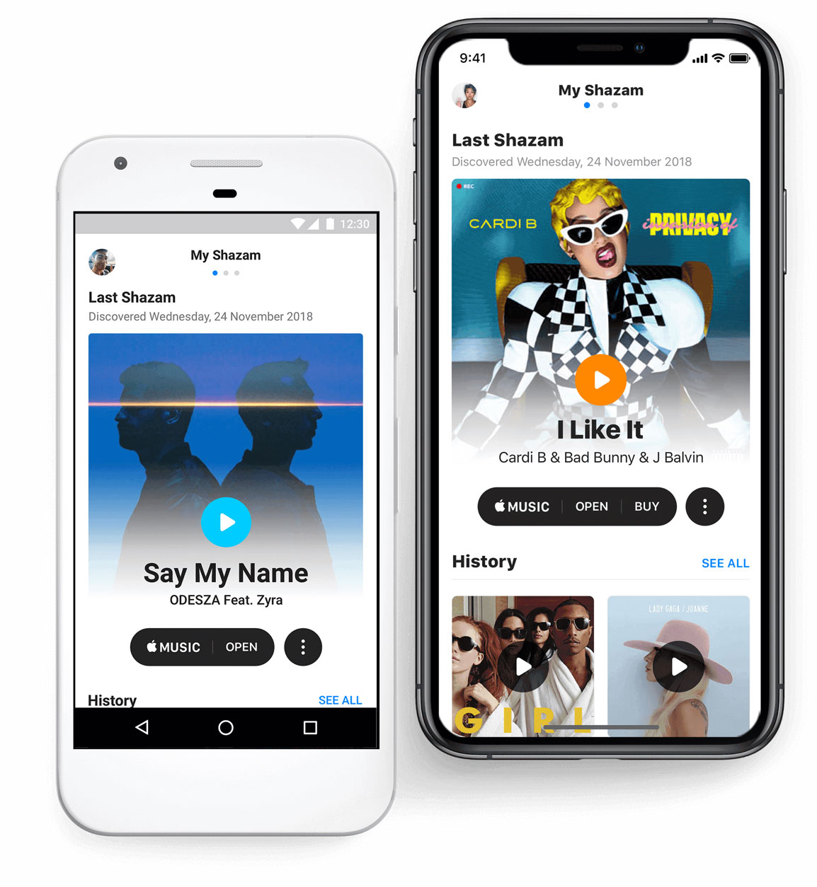 My Shazam on various devices